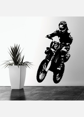 Motorbike Wall Sticker Dirt  Motocross Wall Decal Boys Bedroom Decor mb11