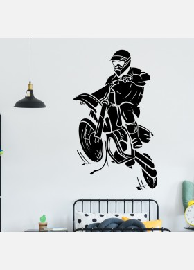Motorbike Wall Sticker Dirt  Motocross Wall Decal Boys Bedroom Decor mb12