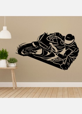 Motorbike Wall Sticker Dirt  Motocross Wall Decal Boys Bedroom Decor mb13