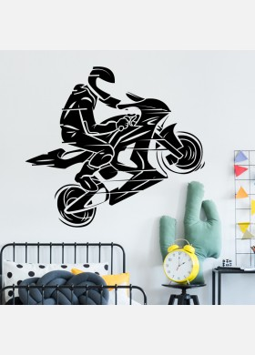 MotorBike Wall Sticker Dirt Motocross Wall Decal Boys Bedroom Decor mb14