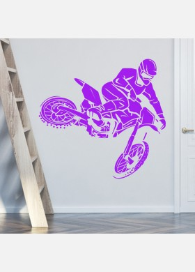 Motocross Wall Sticker Dirt  Motorbike  Wall Decal Boys Bedroom Decor mb15