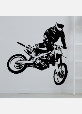 Motocross Wall Sticker Dirt  Motorbike  Wall Decal Boys Bedroom Decor mb17