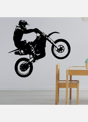 Motocross Wall Sticker Dirt  Motorbike  Wall Decal Boys Bedroom Decor mb18