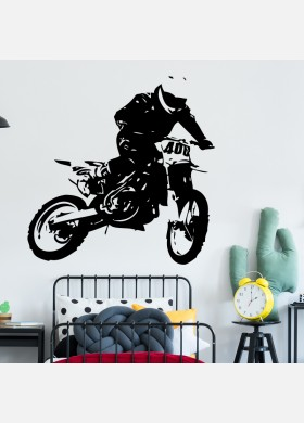 Motocross Wall Sticker Dirt  Motorbike  Wall Decal Boys Bedroom Decor mb19