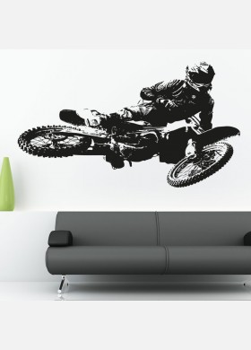 Motocross Kawasaki Wall Sticker