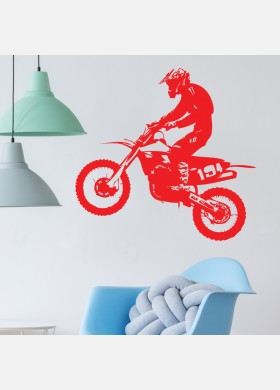 Motocross Wall Sticker Dirt  Motorbike  Wall Decal Boys Bedroom Decor mb20