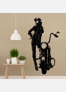 Motorbike Wall Sticker Dirt female Wall Decal Bedroom Decor mb23