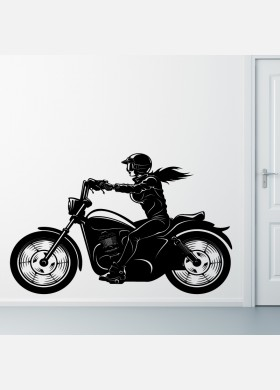 Motorbike Wall Sticker Dirt female Wall Decal Bedroom Decor mb25