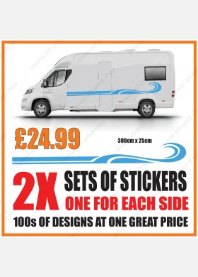 Motorhome graphics stickers decals camper van caravan universal fitting mg131