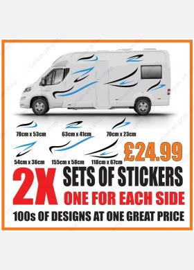 Motorhome graphics stickers decals camper van caravan universal fitting mg132