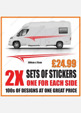 Motorhome graphics stickers decals camper van caravan universal fitting mg133