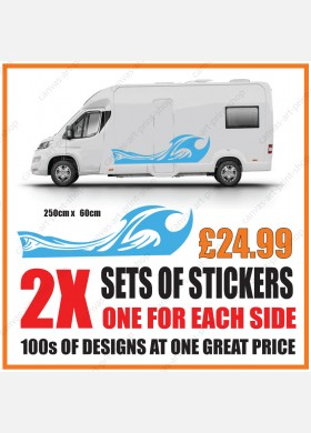 Motorhome graphics stickers decals camper van caravan universal fitting mg134