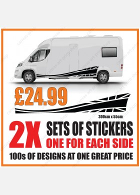 Motorhome graphics stickers decals camper van caravan universal fitting mg135