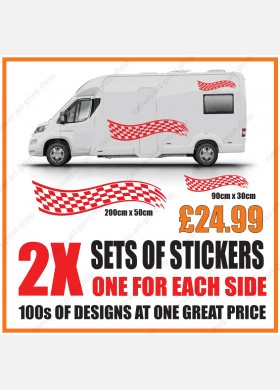 Motorhome graphics stickers decals camper van caravan universal fitting mg136