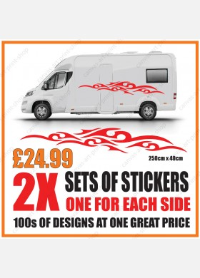 Motorhome graphics stickers decals camper van caravan universal fitting mg137
