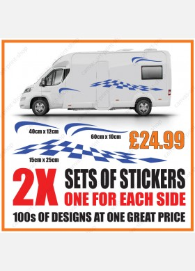 Motorhome graphics stickers decals camper van caravan universal fitting mg138