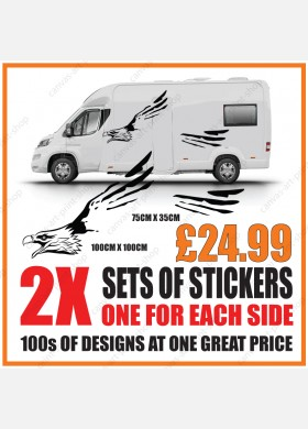 Motorhome graphics stickers decals camper van caravan universal fitting mg139