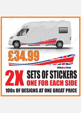 Motorhome graphics stickers decals camper van caravan universal fitting mg140
