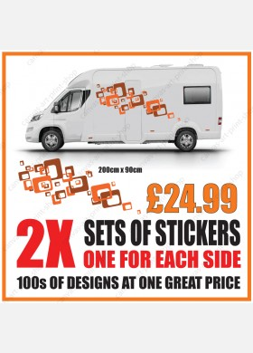 Motorhome graphics stickers decals camper van caravan universal fitting mg141