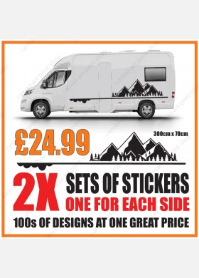 Motorhome graphics stickers decals camper van caravan universal fitting mg142