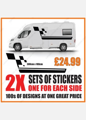 Motorhome graphics stickers decals camper van caravan universal fitting mg143