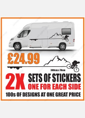 Motorhome graphics stickers decals camper van caravan universal fitting mg147