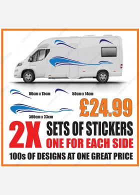 Motorhome graphics stickers decals camper van caravan universal fitting mg148