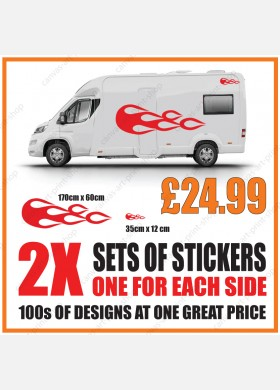 Motorhome graphics stickers decals camper van caravan universal fitting mg150