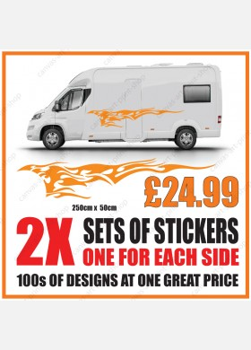 Motorhome graphics stickers decals camper van caravan universal fitting mg152