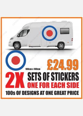 Motorhome graphics stickers decals camper van caravan universal fitting mg153