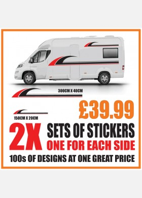 Motorhome graphics stickers decals camper van caravan universal fitting mg155