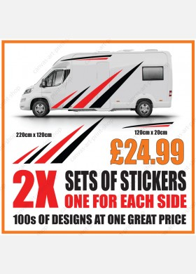 Motorhome graphics stickers decals camper van caravan universal fitting mg156
