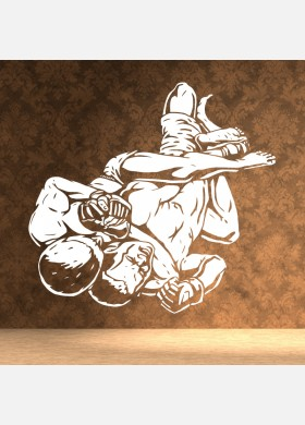 MMA wall sticker mixed martial art karate sports fight decal mma5