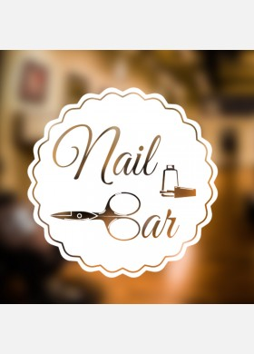 Nail Bar Wall Sticker
