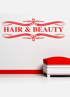 Hair and Beauty decal