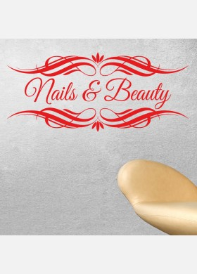 Nails and Beauty decal