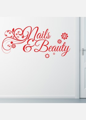 Nails and Beauty Floral Wall sticker