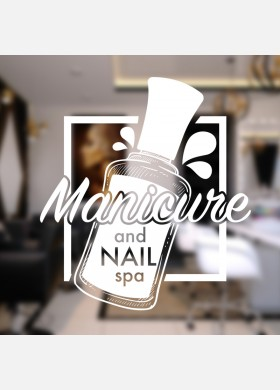 Nail salon wall sticker manicure beauty shop graphics quote decal art ns17
