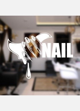 Nail salon wall sticker manicure beauty shop graphics quote decal art ns22