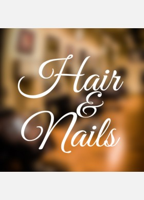 Hair and Nails Wall Sticker