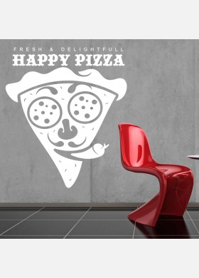 Pizza Takeaway wall sticker cafe decal restaurant fast food burger pz11