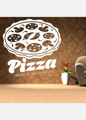Pizza Takeaway wall sticker cafe decal restaurant fast food burger pz12
