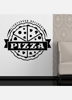Pizza Takeaway wall sticker cafe decal restaurant fast food burger pz2