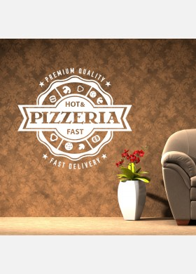 Pizza Takeaway wall sticker cafe decal restaurant fast food burger pz4