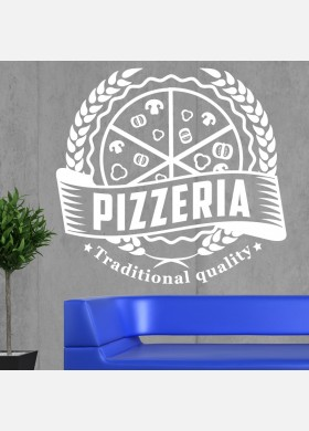 Pizza Takeaway wall sticker cafe decal restaurant fast food burger pz5