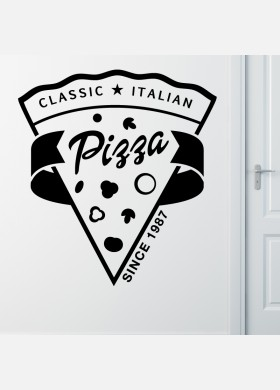 Pizza Takeaway wall sticker cafe decal restaurant fast food burger pz7