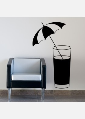 Cocktail Glass Wall Sticker