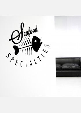 Sea food Specialties Wall Sticker