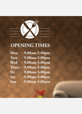 Custom opening times Wall Sticker