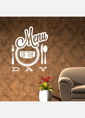 Menu Of The Day Wall Sticker
